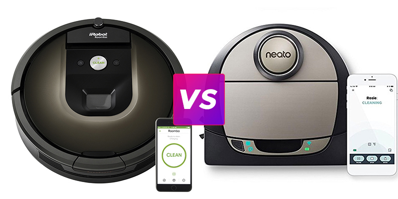 '.iRobot Roomba 980 vs Neato Botvac D7 Connected.'
